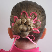 Bun with Woven Ribbon Flower (12)