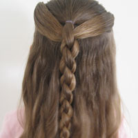 Ponies and 4 Strand Braid (11)