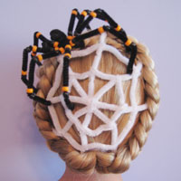 Spiderweb Hairstyle | Halloween Hairstyles (12)