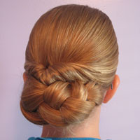 Easy Rolled Braid Updo (13)
