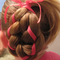 4 Strand Braid with Ribbon In It (12)