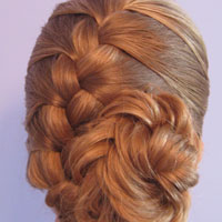 French Braid and Fishbone Bun from BabesInHairland.com (11)