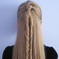 French Braid into a Fishbone Braid from BabesInHairland.com (10)