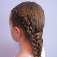 Half French Braid Hairstyle - BabesInHairland.com (17)