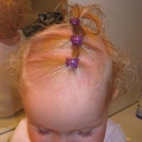 baby ponytails