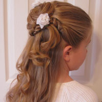 Twisted Flower Girl Hairstyle (14)